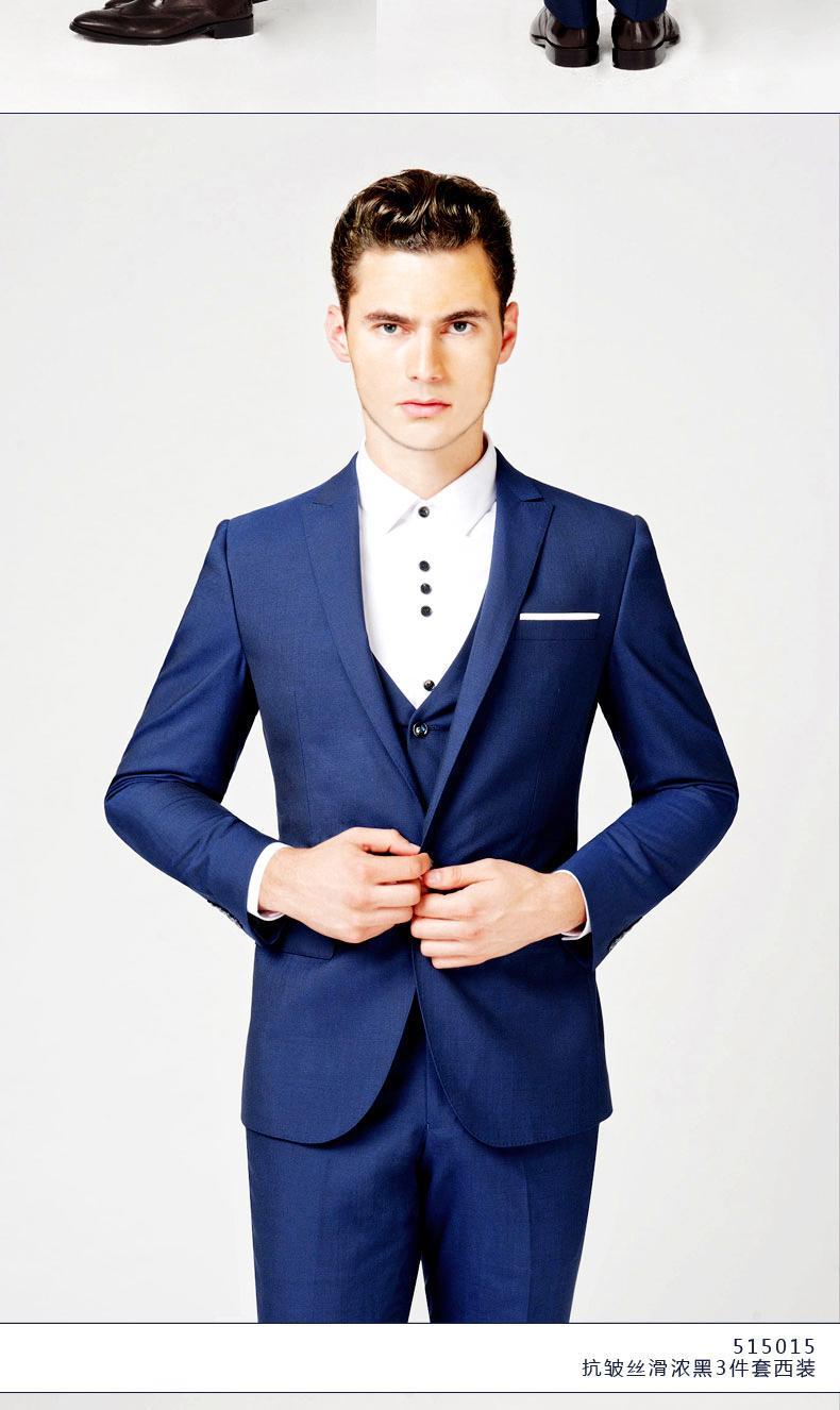 Modern Blue Suit - Go Suits