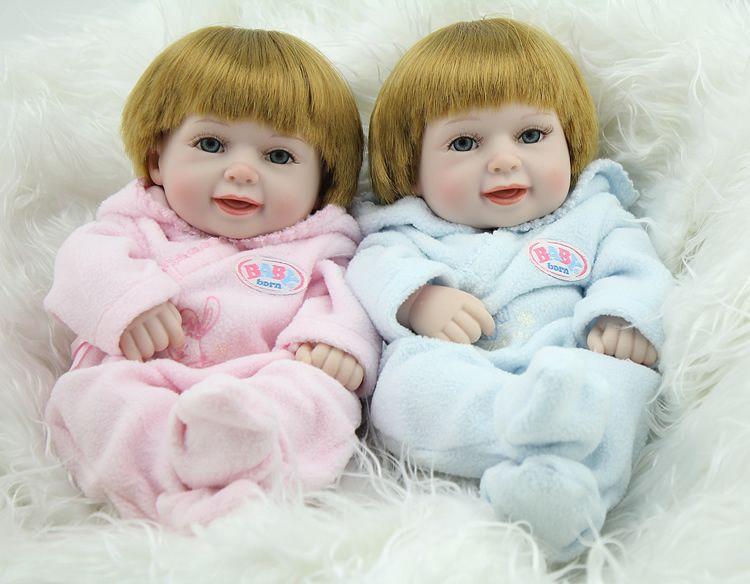 Npk silicone reborn baby dolls full body silicone realistic smile newborn twins babies doll toys of set kids doll toys baby dolls from baby doll
