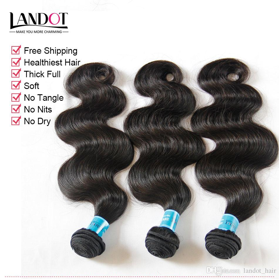 Unprocessed 9A Indian Body Wave Virgin Human Hair Weave Bundles Natural Color DYEABLE SOFT THICK TANGLE FREE Indian Hair Extensions