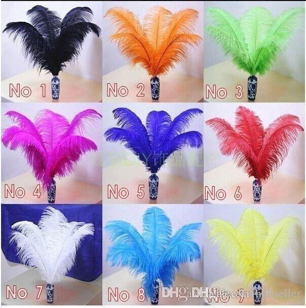 2015 New Wedding party supply Ostrich Feather Plume wedding centerpieces table decoration many size to choose