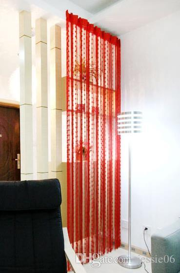 結婚式の背景カーテンラブハートタッセルスクリーン室仕切りロッドポケットドアカーテンパーティーデコレーション小道具カラフルなギフトミックス