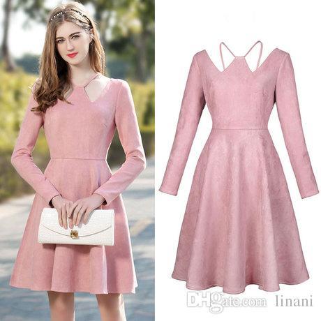 Knee Length Pink Dress