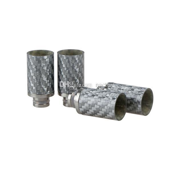 Углеродного волокна 510 капельного советы черный серебряный широкое отверстие капельного советы эго распылитель мундштуки для механического Mod RBA RDA E сигареты бак испаритель
