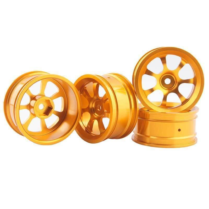 RC Aluminum Wheel 4pc D:52mm W:26mm Fit HSP HPI 1:10 On-Road Drift Car Rim 107G