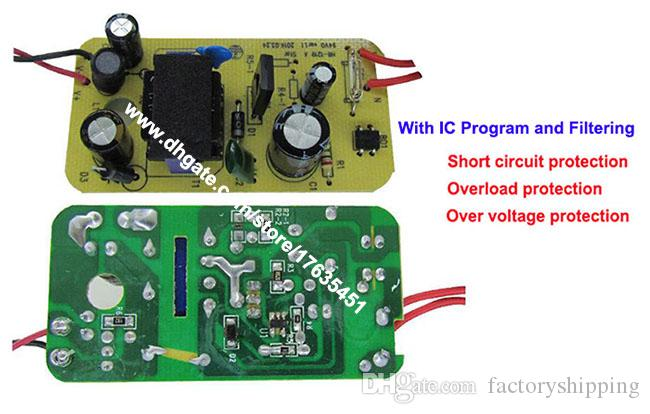 IC Program ile 100 adet Yüksek Kalite AC Adaptörü DC 12 V 1A 1000mA Güç Kaynağı İNGILTERE Tak DC 5.5mm x 2.1mm Fedex / DHL Ücretsiz kargo