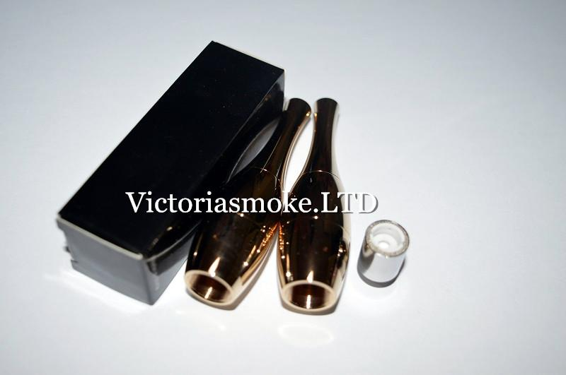 Fedex Free Gold Vase cannons Bowling Atomizer Wax Vaporizer wax Ceramic Coil Rebuildable Vase Metal Vapor E Cigs For ego T evod Ecigs