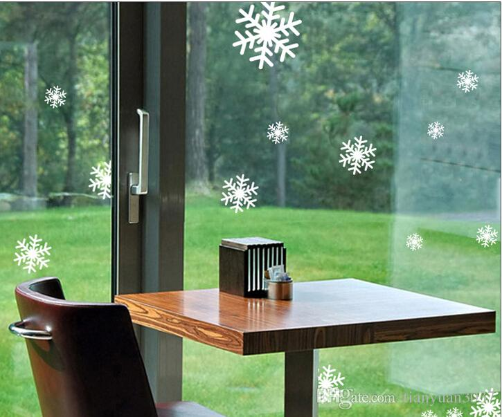 1 sheets of stickers hotel shopping glass sliding door shop window new year christmas snowflake stickers ty456 decorating at christmas decorating christmas - Glass Sheet Hotel Decorating