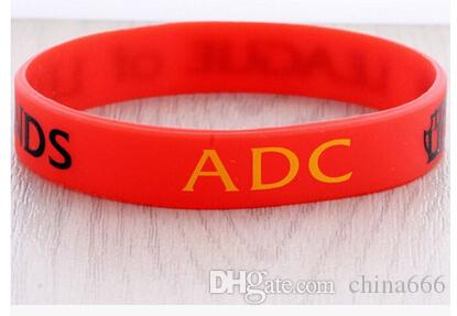 free 2015 Retail LOL GAMES Souvenirs 100% Silicone Wristband LEAGUE of LEGENDS Bracelets with ADC, JUNGLE, MID, SUPPORT, TOP, Printed Band