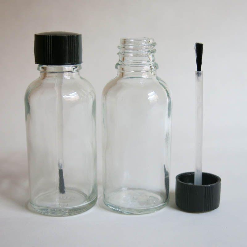 도매 30 ml 투명 유리 브러쉬 병, 30 ml 유리 병, 분명 Essetial 석유 병, 혈 청 브러시