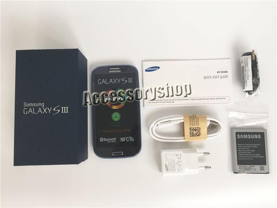 I9300 الأصل سامسونج غالاكسي S3 تجديد الجيل الثالث 3G WCDMA I9305 4G LTE 4.8 بوصة شاشة رباعية النواة 1.4GHz مقفلة رخيصة الهاتف الخليوي DHL الشحن