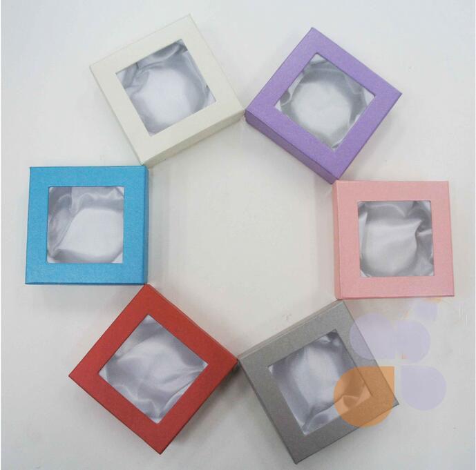 12 STÜCKE Schmuck Charme Armband Armbanduhr Geschenkboxen Fällen Display Box 85x85x25mm mehrere Farben nach dem zufall versendet