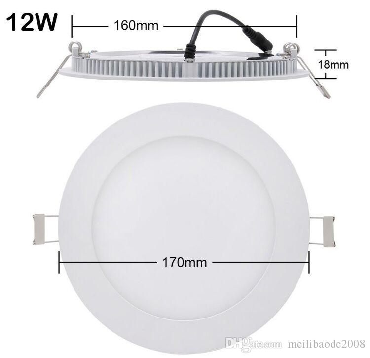 """Dimmable Led Downlights 2.5'' 3'' 4"""" 5"""" 6"""" 7"""" 8'' Recessed Lights 3W 4W 6W 9W 12W 18W Ceiling Panel Lights AC110-240V MYY"""