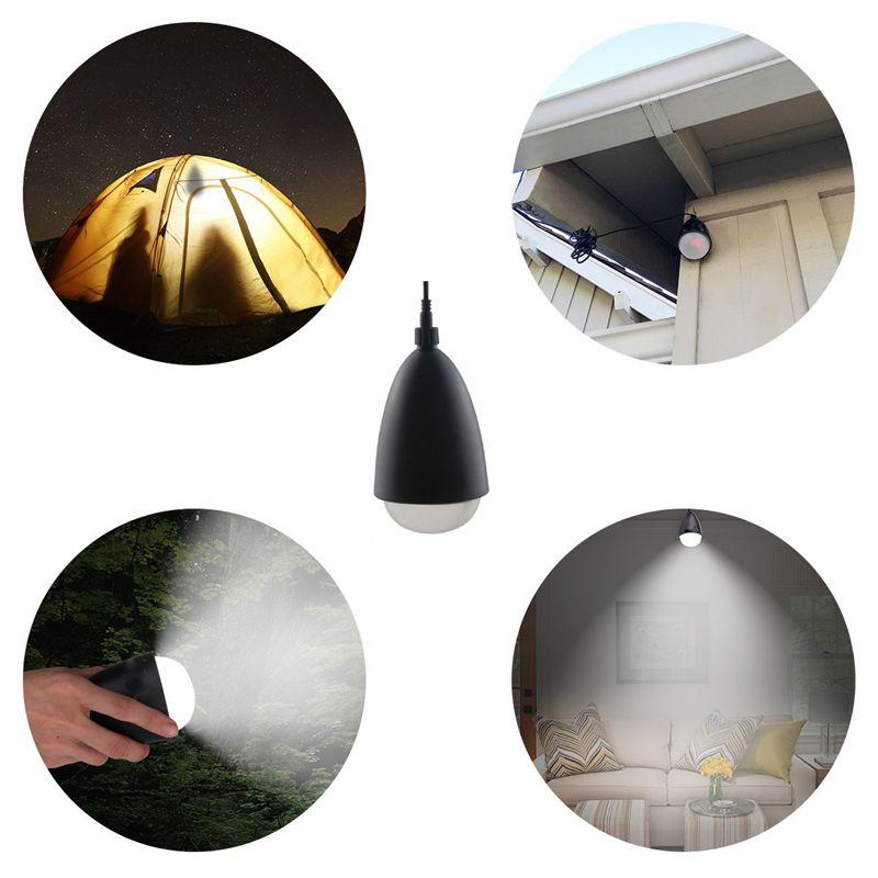 11 LED Solar Portable Lantern Bulb Sensor Remote Control Light IP65 Outdoor Waterproof Hiking Fishing Camping Tent Emergency Light