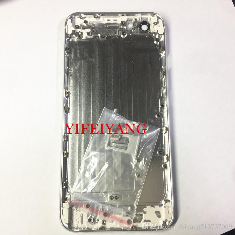 20 adet YENI Arka Arka Kapak Pil Konut Kapı Şasi Orta Çerçeve iPhone 7 Için 6 6 S 6 plud 6 sP Gibi 8 Stil 8 ARTı