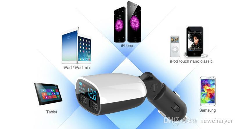 3.4A 3400mha USB Chargeur de voiture double 5V Dual 2 Chargeurs de voiture pour iPad iPhone 5 5S iPod iTouch HTC Samsung