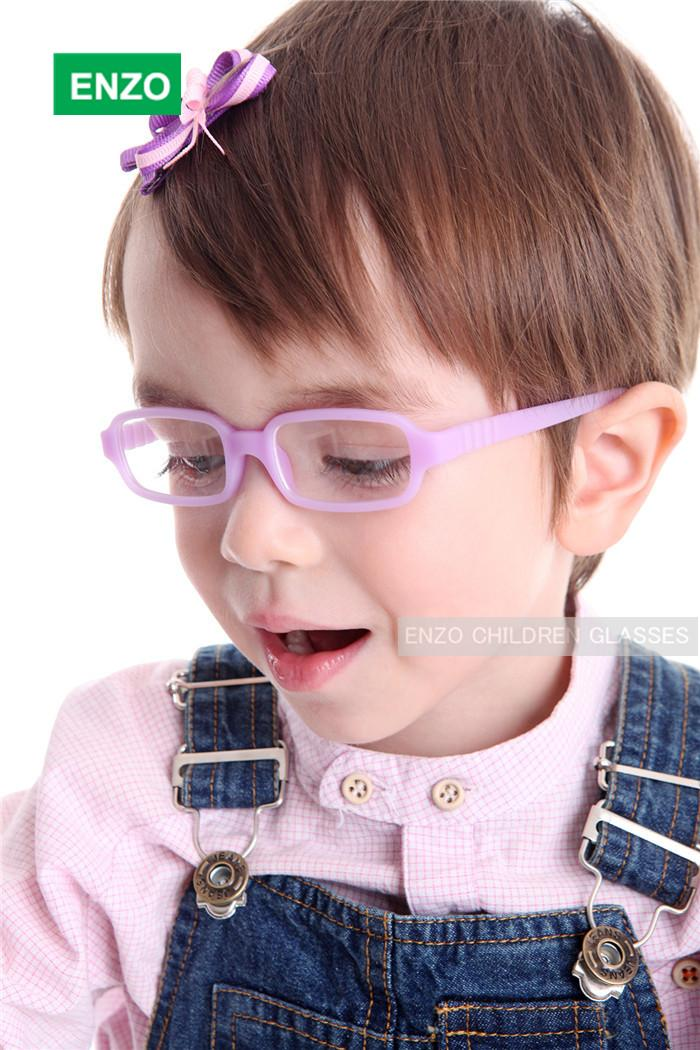 赤ちゃんの女の子の男の子メガネサイズ42mmコードなしネジ、ワンピースの柔軟な幼児、曲げ可能な子供メガネフレーム