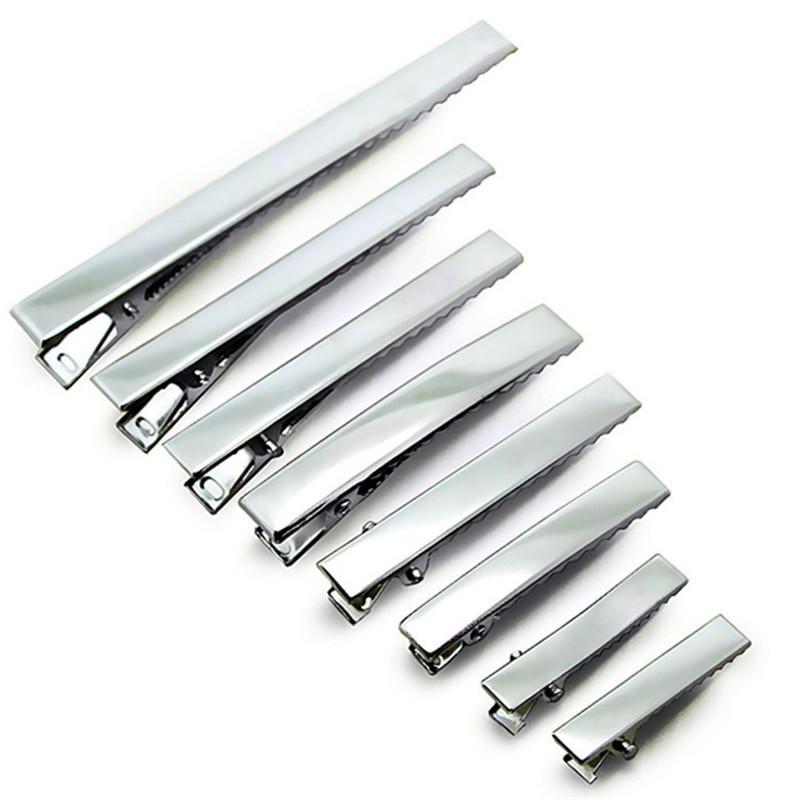 32mm-95mm 좋은 품질 금속 단일 족장 악어 클립 아기 머리 클립 Barrette 클립 머리핀 for Hair Bows DIY 헤어 액세서리