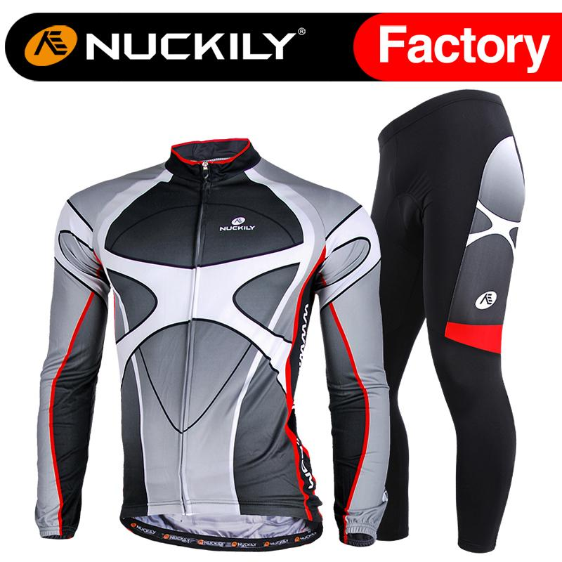 Nuckily mens printed winter long suit quick dry thermal long sleeve jersey  custom long pants ME005   MF005  9b898b9a5