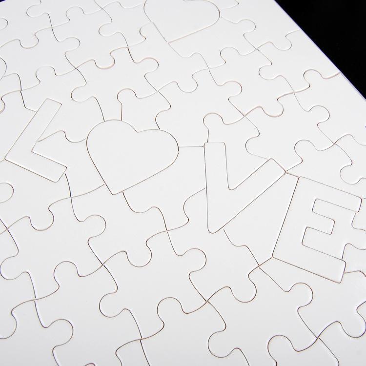 Am billigsten!!! A4 Sublimation Blank Puzzle 120 stücke DIY Handwerk Wärmepresse Transfer Handwerk Puzzle weiß auf lager