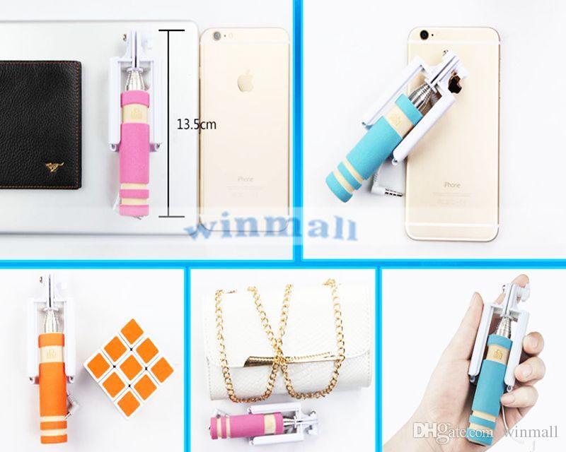 Super Mini Einbeinstativ Wired Selfie Stick Faltbare All-in-One Einbeinstativ Erweiterbar Handheld Selbstporträt Sticks