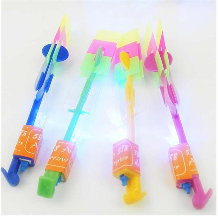 LED Flare Copter Amazing Slingshot Helicopter Light Toy Bright Spin Fly Glow Birthday Party Halloween Children'Day Christmas