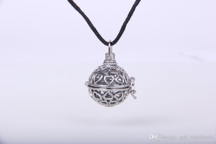 2015 Maternity Jewelry Copper Matal Pendants With Angel ball in Chain Necklaces Hearts Design