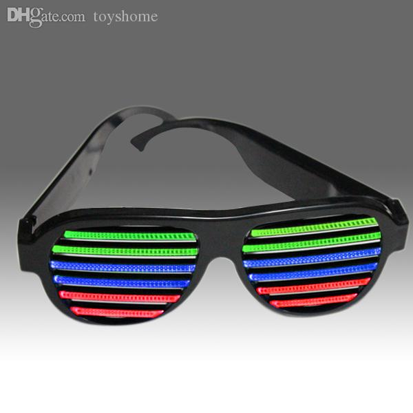 099766e50d5 Wholesale 2015 Newest Frame LED Sound Activated Novelty Sunglasses Glow In  The Dark Sunglasses For Novelty Products For Import UK 2019 From Toyshome