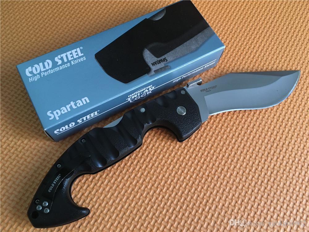 ¡Mejor precio! Cuchillos del acero frío maneja el cuchillo plegable de la lámina 440C Spartan Grivory alta calidad que acampa del cuchillo de caza plegable de la supervivencia