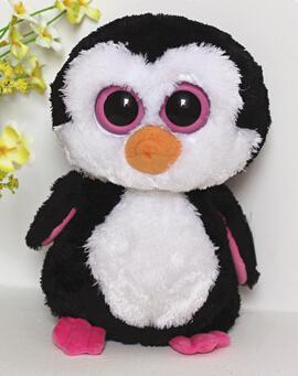 Beanie Boo Plush Penguin TY Big Eyed Big Eyes Whiskers Dog Soft ...