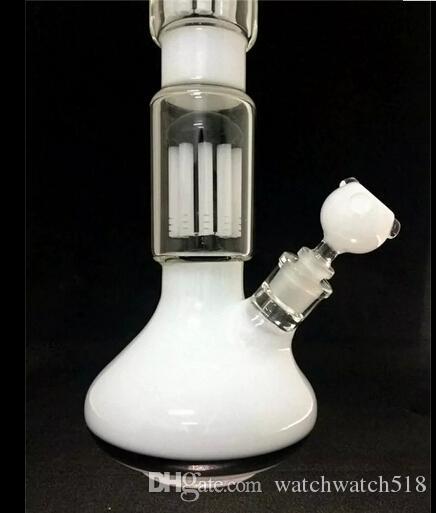 2015 bangs en verre HW-13 tuyaux d'eau en verre avec bang en verre 53CM Longueur 15CM largeur fumer pipe à la main couleur blanche