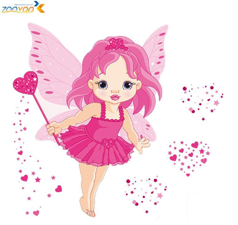 Loving Angel Girl 3d Cartoon Wall Stickers Zooyooangel Home Decoration Diy Removable Decal Bedroom Girls Room Decals From