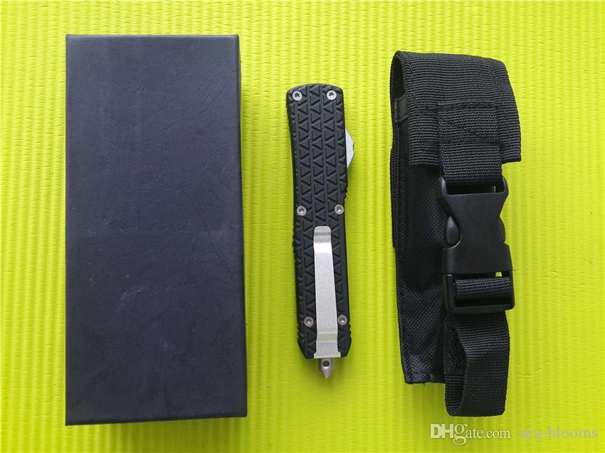 Tamanho grande Combate D07 D / A facas auto 9.65 polegadas Katana Tri-Grip Canivete EDC Faca tática com bainha A07 C07 616