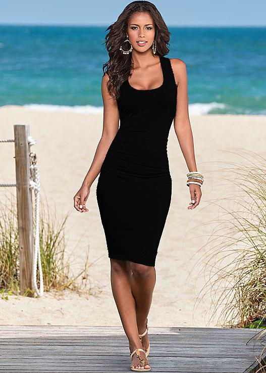 Casual Women Summer Beach Dress Ladies Loose Sleeveless Off Shoulder  Strapless Party Dresses Elasticity Pencil Women s Clothing Q1113 High  Quality Womens ... b505e2c32