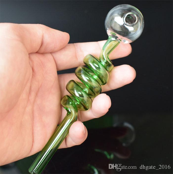 DHL Großhandel glasrohre Gebogene bong Glas Öl Brenner Rohre mit Verschiedenen Farbigen Balancer Wasserpfeife rauchen rohre