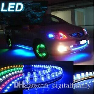 Car Truck Led Strip Lights Light Diy Flexible Pvc  White/Yellow/Green/Red/Blue 24cm 24led 48cm 48leds 72cm 72 Led 96cm 96 Leds  120cm Blue Led Strip Led ...