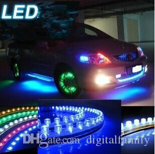 Compre 10 unidades del carro del coche led luces de tira de luz diy compre 10 unidades del carro del coche led luces de tira de luz diy pvc flexible blanco amarillo verde rojo azul 24cm 24 led 48 cm 48 led aloadofball Choice Image