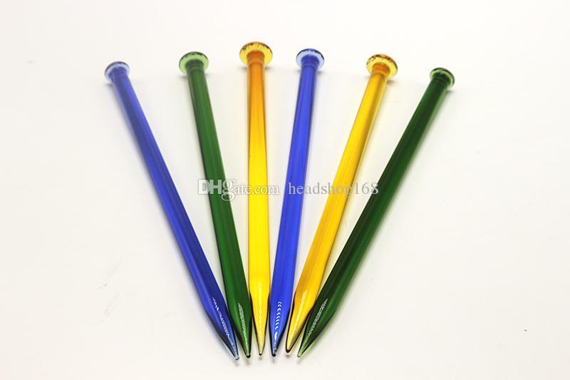 Colorido Dabber De Vidro Ferramenta de Design Lápis Dabs Para Bong Ferramenta Favo De Mel Acessórios de Fumaça de Vidro Dabber Para Plataformas Petrolíferas