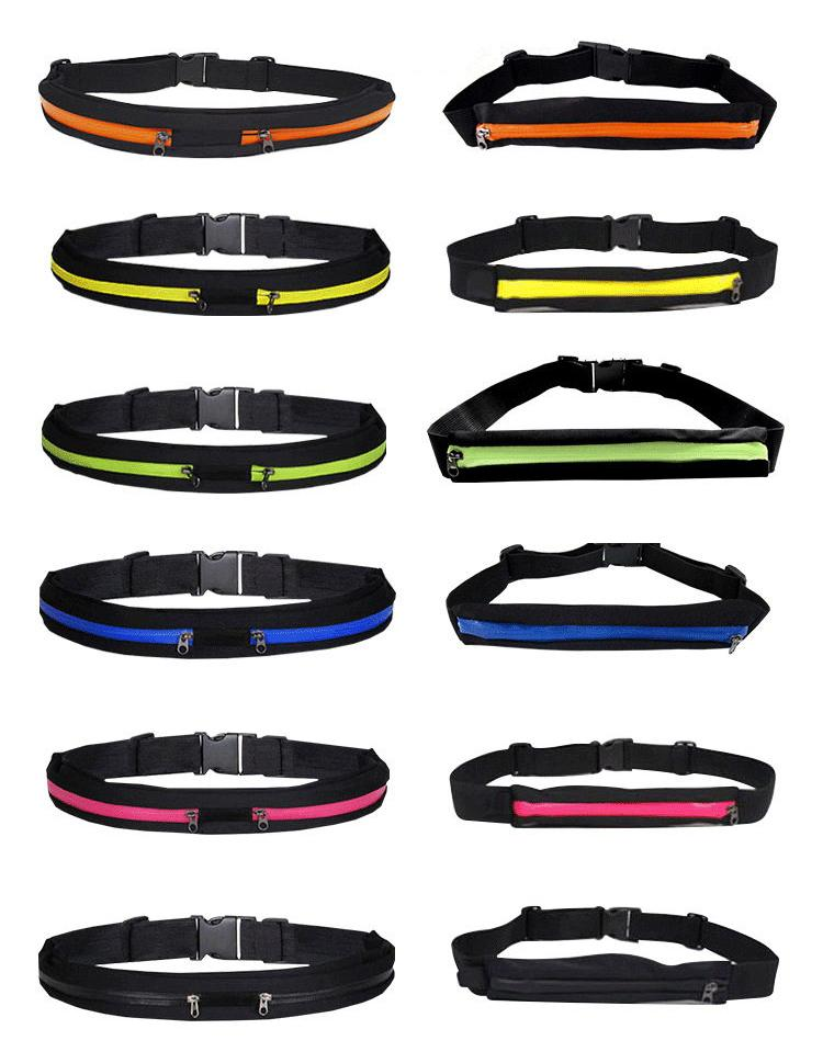 Cinturón de deporte en funcionamiento Paquete de cinturón Paquete ajustable Bolsa Soporte para teléfono móvil para iPhone x 8 7 6s 6 5s 5 Samsung HTC LG