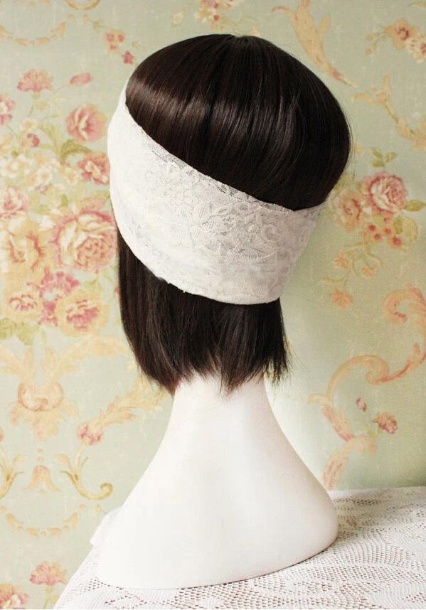 Moda Feminina Rendas Largas Headband Mulheres Meninas Pop Estilo Retro Faixa de Cabelo Cross Headband Lady Acessórios Para o Cabelo Por Atacado
