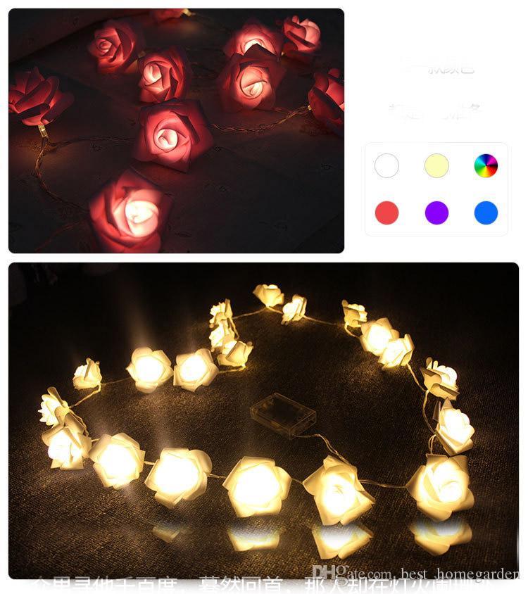 Romantic string light 30 LED 3m battery powerd rose wedding decoration lights valentine day decor ornament birthday surprise lighting