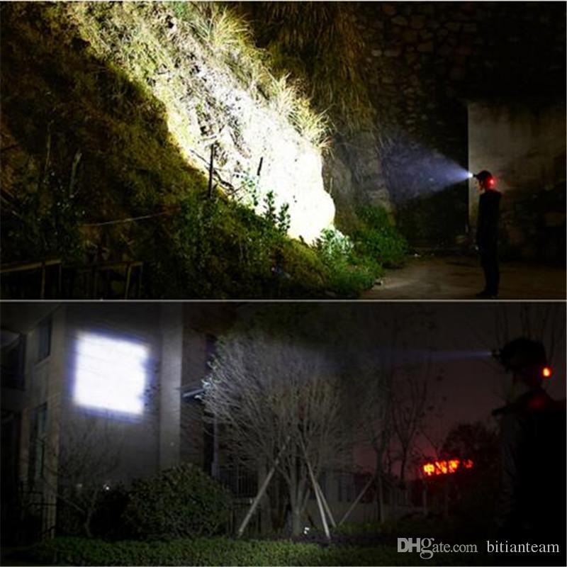 Potente CREE XML T6 faros faros Zoom a prueba de agua 18650 batería recargable Led cabeza lámpara bicicleta Camping Senderismo luz