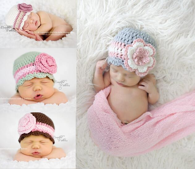 2018 newborn crochet hat cute baby girls flowers hat baby beanie caps crochet newborn photography props 100 cotton from i and you 7 17 dhgate com