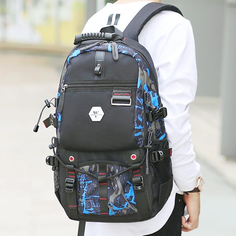 VKINGVSIX USB Водонепроницаемый рюкзак Женщины Мужчины 15,6-дюймовый ноутбук рюкзаки Путешествия подростковые школьные сумки мальчиков рюкзак mochila bagback