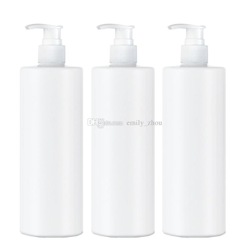 20 unids 350 ml Loción Botellas bomba de loción Cosmética Mascota Botella de Plástico Champú Vacío Perfume de Almacenamiento de maquillaje blanco Botellas Rellenables