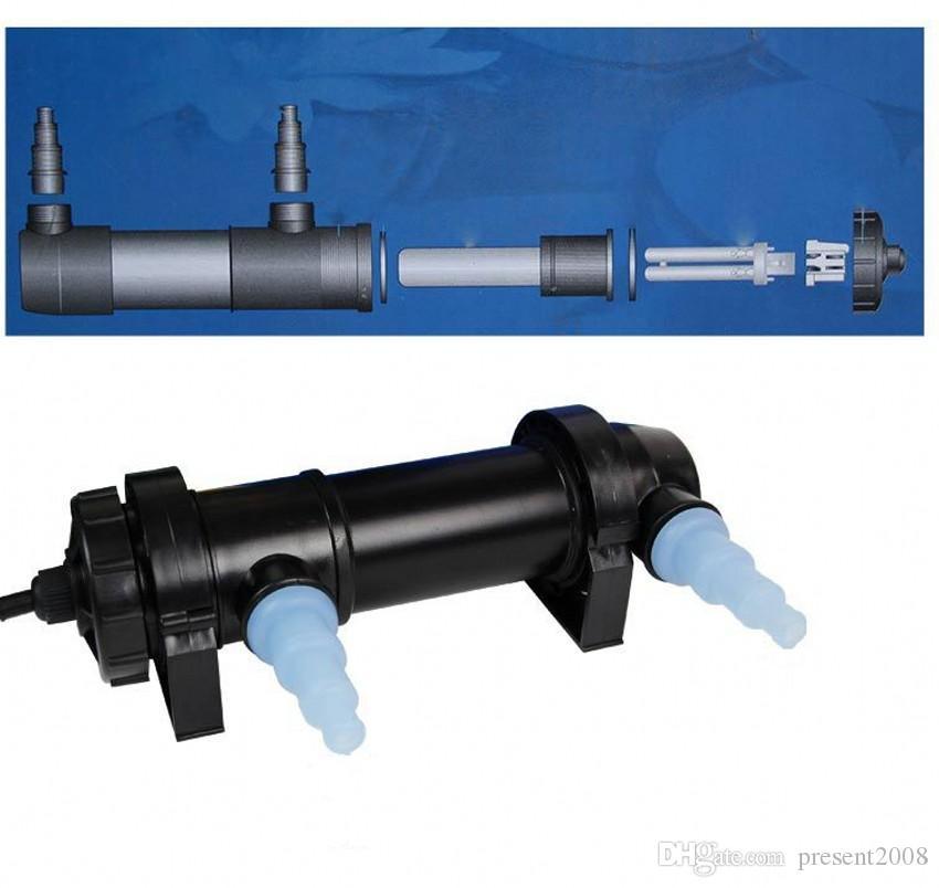 All'ingrosso-JEBO 5W ~ 36W Potenza sterilizzatore UV della luce della lampada a raggi ultravioletti pulitore del filtro chiarificatore dell'acqua l'acqua dello stagno Coral Koi Fish Tank