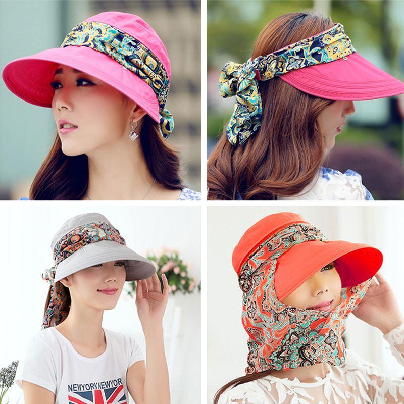 f2ebd8b0ff4e8 Fashion Face Protection Sun Hat Summer Hats For Women Foldable Anti UV Wide  Big Brim Adjustable Women Hat Summer Sun Hats For Men Hats And Caps From ...