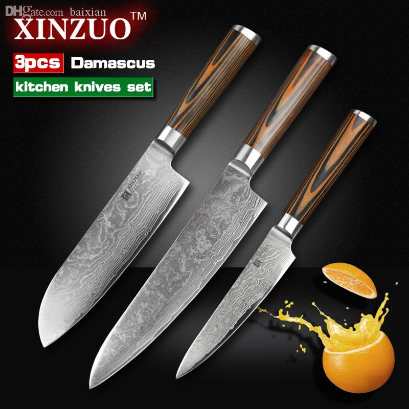Wholesale Xinzuo Kitchen Knives Set Damascus Kitchen Knife Sharp ...