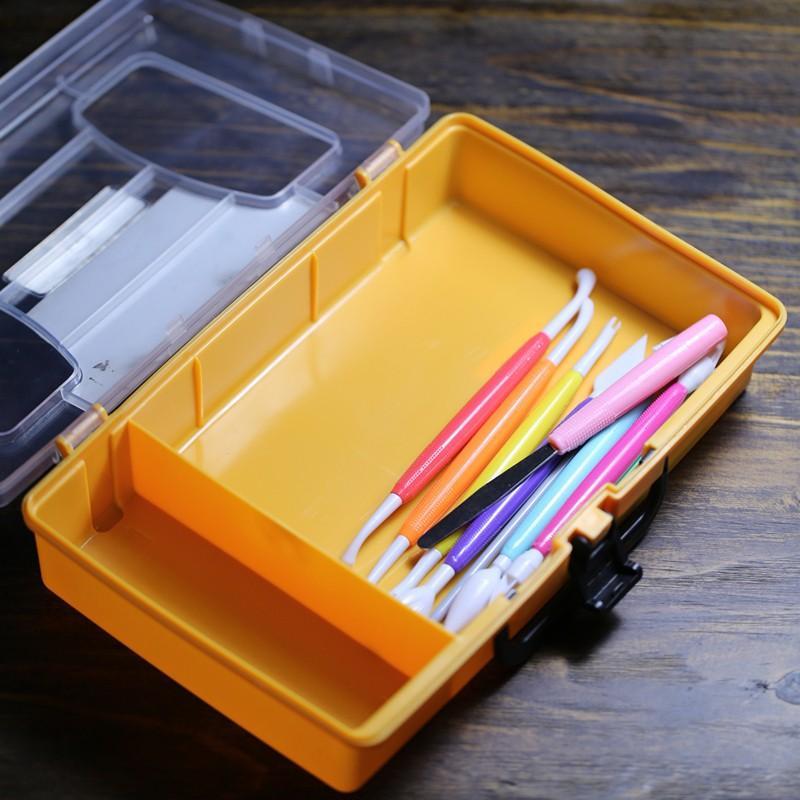 See larger image & 2018 Plastic Cake Fondant Tool Storage Box Diy Bakeware Sugar Craft ...