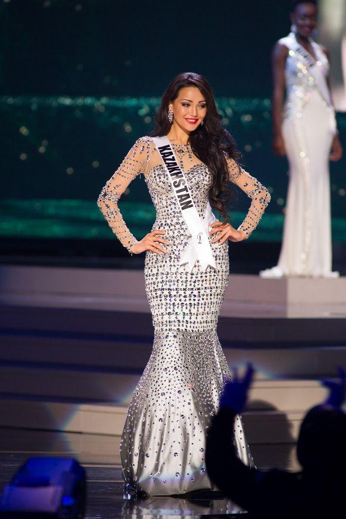 Großhandel Miss World 2015 Bling Strass Festzug Kleider Mit Langen ...