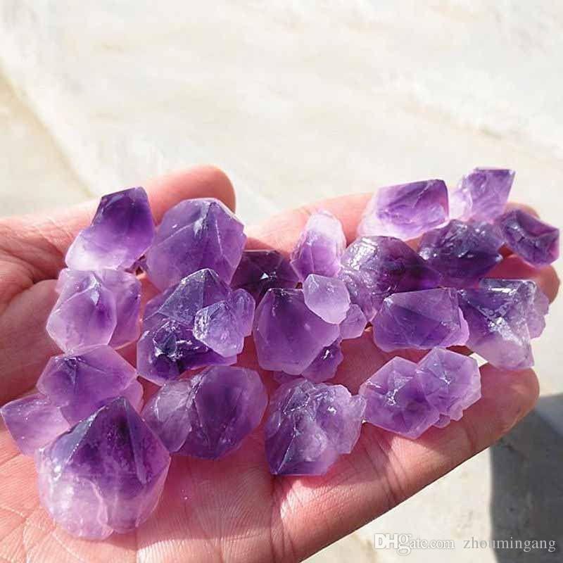 100g Naturale Ametista Scheletrico Drusy Quartz Point viola grezzo roccia grezza Cristallo Cluster Healing Specimen Pietre Naturali Minerali